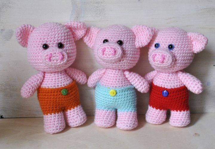 Вязаная Свинка фото