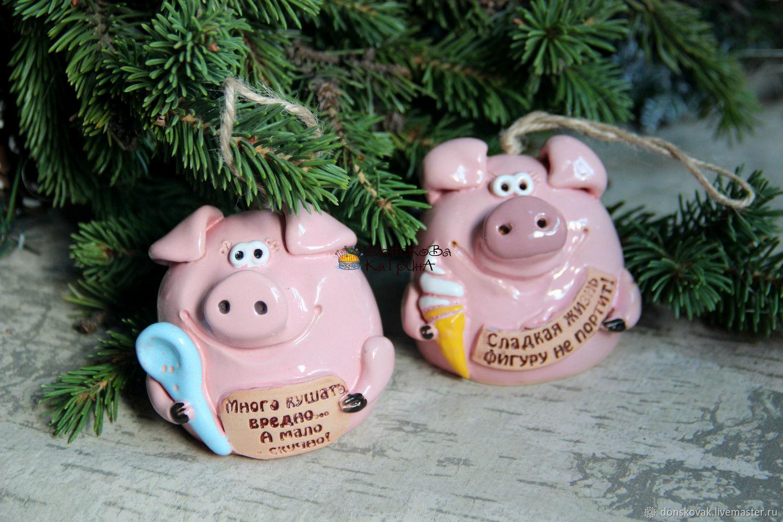 Картинки новогодние с символом 2019 года – Свиньей фото