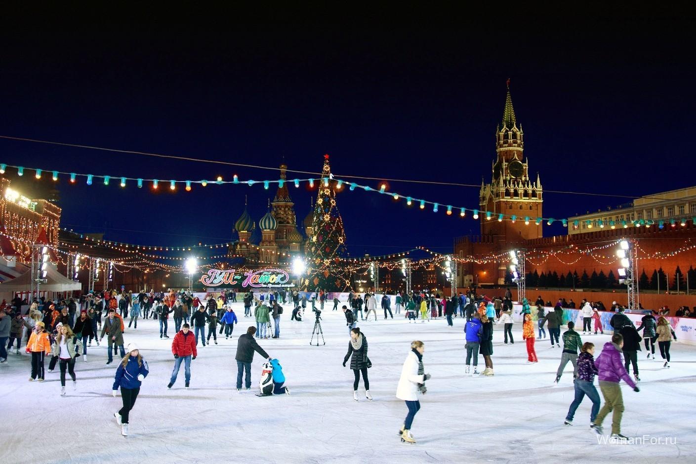 Катки в Москве в 2019 году фото