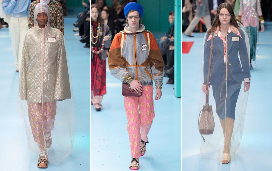 Коллекция Gucci зима-весна 2019 года показ мод фото