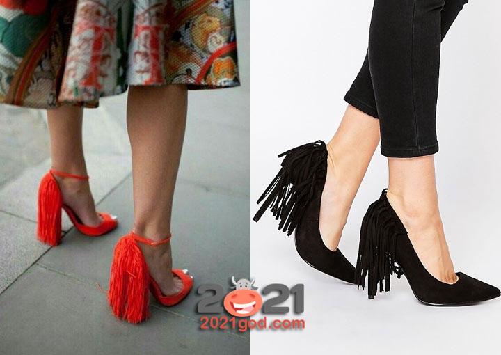 Туфли с бахромой - модные тренды зимы 2020-2021